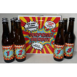 Doos surprise 8fles bierbox...
