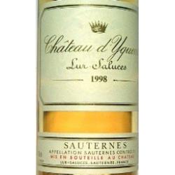 Sauternes chat.yquem 1e gr.cru'98 12%  0.750