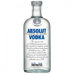 Vodka absolut liter 40%  1.000
